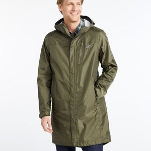 NWT LL Bean Men's Trail Model Rain Coat in Navy